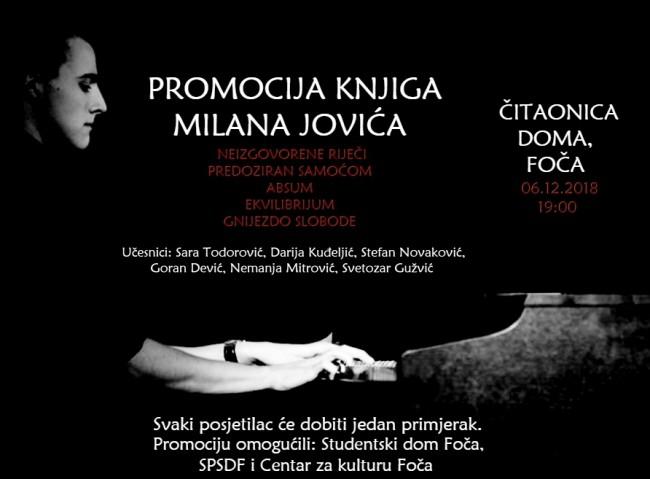 U Foči promocija knjiga Milana Jovića