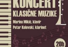 Novljanka Marina Mikić i Makedonac Petar Kolevski na koncertu klasične muzike u Foči