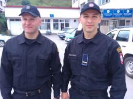 Fočanskim policajcima nagrada za podvig godine: Trivun i Elek hrabrošću zadivili region