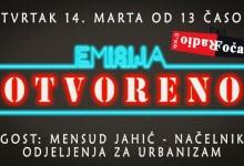 """Emisija """"Otvoreno"""": Gost Mensud Jahić, načelnik Odjeljenja za urbanizam"""