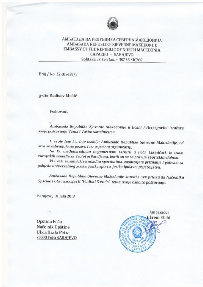 Pismo blagodarnost za pokanata za 15 MFT vo Foča (1)
